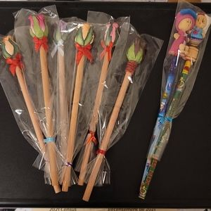 Lot Pencils Rose & Girls (8)